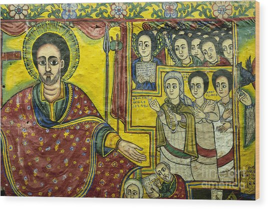Ethiopian Church Paintings Wood Print
