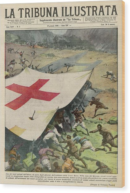 Ethiopians Conceal Men And  Munitions Wood Print by Mary Evans Picture Library