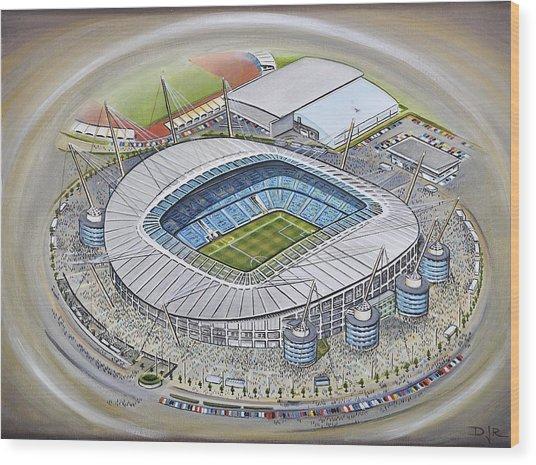Etihad Stadium - Manchester City Wood Print