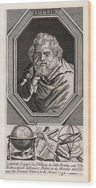 Euclid  Mathematician Of Alexandria Wood Print by Mary Evans Picture Library