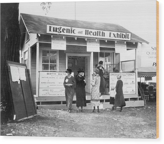 Eugenics Exhibit At Public Fair Wood Print by American Philosophical Society