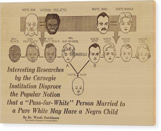Eugenics Research Wood Print