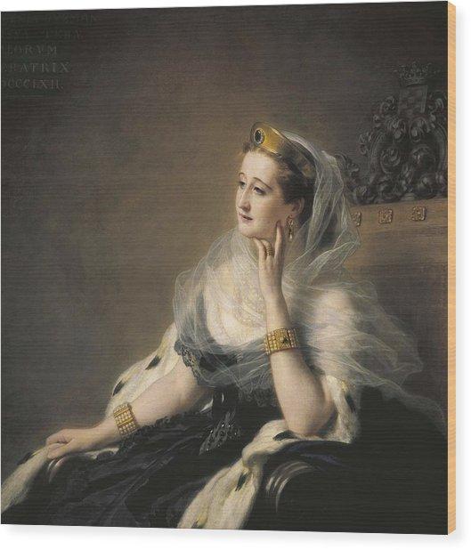 Eugenie, Eug�nia Mar�a De Montijo De Wood Print by Everett