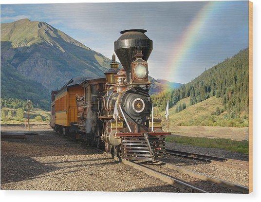 Eureka Rainbow Wood Print