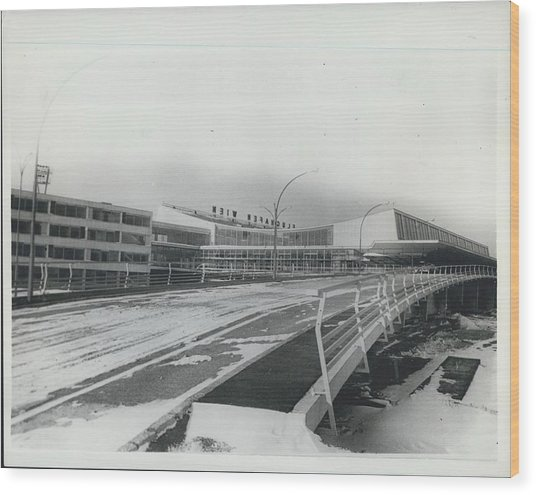 Europes  Most Modern Airport - Under Construction. Vienna Wood Print by Retro Images Archive