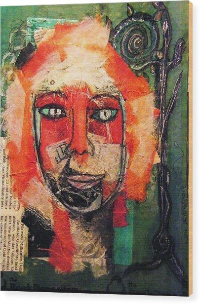 Eva Smiles Wood Print