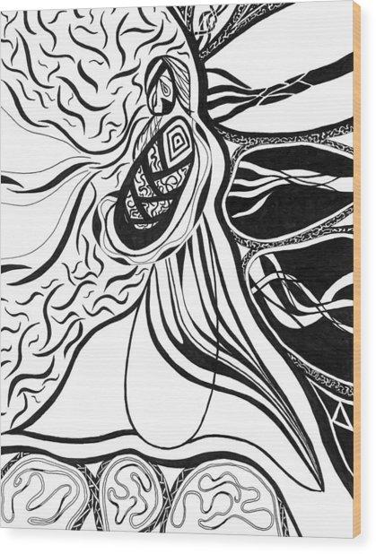 Eve Wood Print by Kerri White
