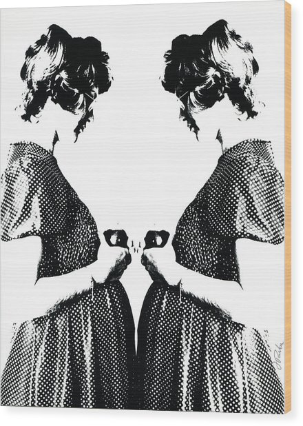 Eve Twice Wood Print