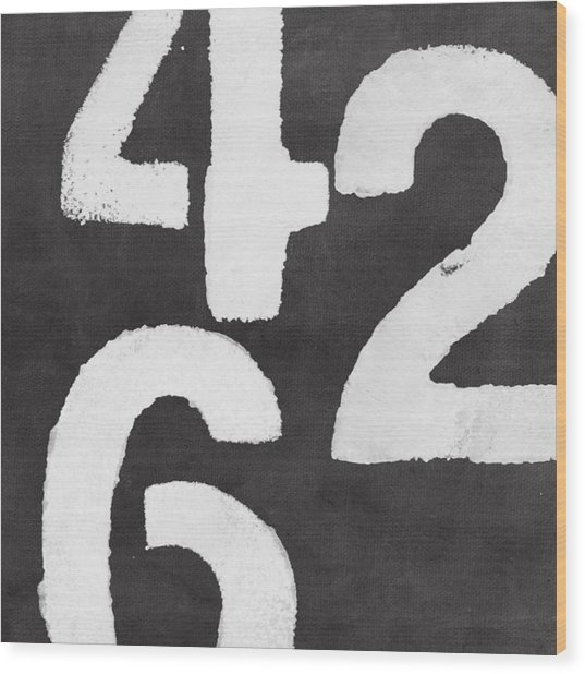 Even Numbers Wood Print