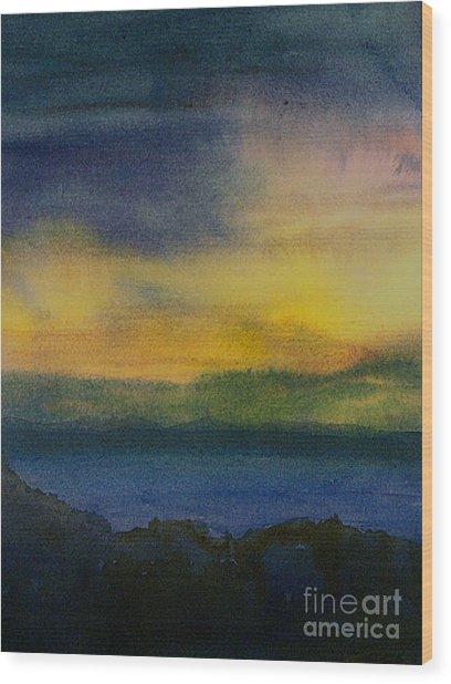 Evening Approaching 1 Wood Print by Gwen Nichols