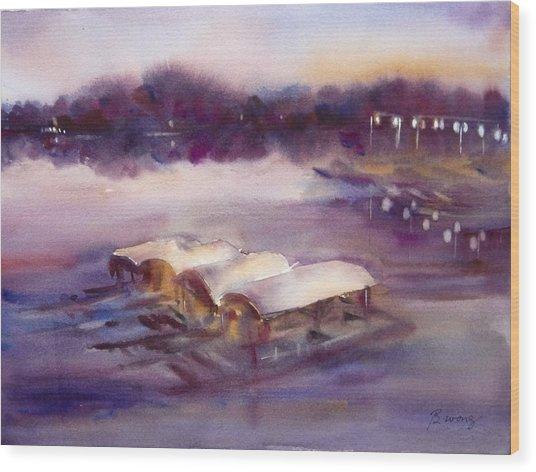 Evening Boatride Wood Print