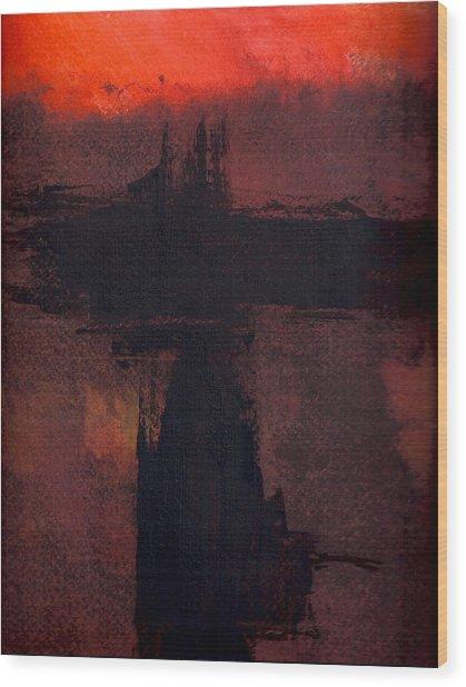 Evening Bridge Wood Print