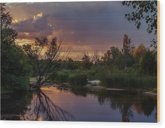Evening Colors Wood Print