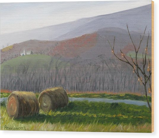Evening Comes To Penns Valley Wood Print