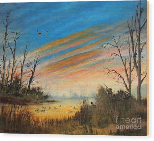 Evening Duck Hunt Wood Print