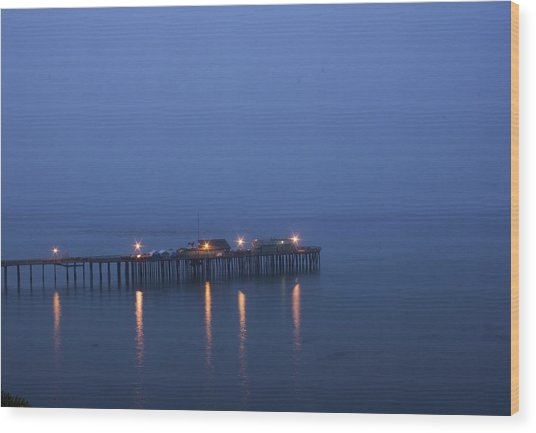 Evening Enters Capitola Wood Print