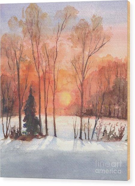 The Evening Glow Wood Print
