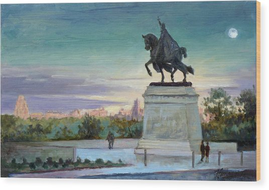 Evening In Forest Park Saint Louis Wood Print