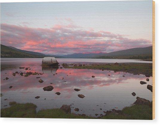 Evening Light On Ben Nevis Wood Print