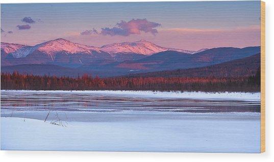 Evening Light On The Presidential Range. Wood Print