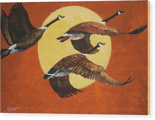 Soaring Migration Wood Print