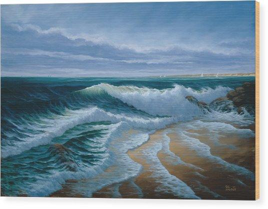 Evening On Monterey Bay Wood Print