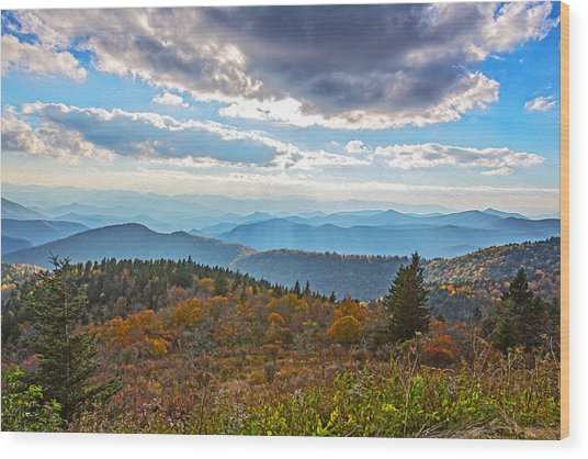 Evening On The Blue Ridge Parkway Wood Print