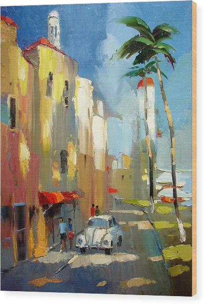 Evening On The Isla Mujeres Wood Print