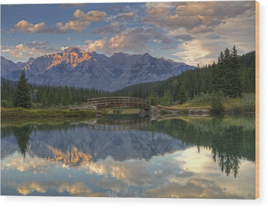 Evening Solitude At Cascade Ponds Wood Print