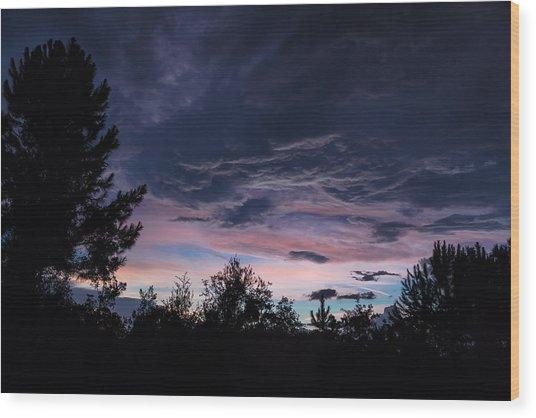 Evening Storm Wood Print