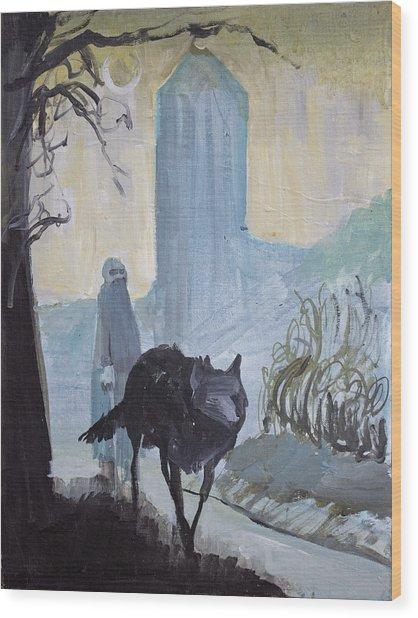 Evening Stroll Wood Print
