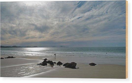 Evening Surf Wood Print by Jocelyn Kahawai