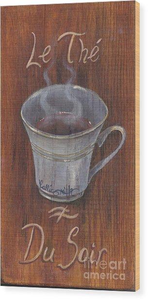Evening Tea Wood Print by Callie Smith