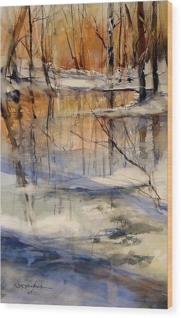 Evening Thaw Wood Print