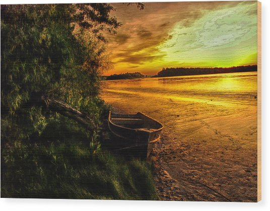 Evening Tranquility Wood Print