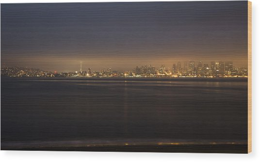 Evening View Wood Print by Akos Kozari