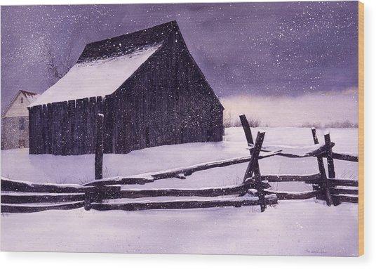 Evening's Quiet Wood Print