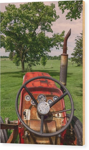 Ever Drive A Tractor Wood Print