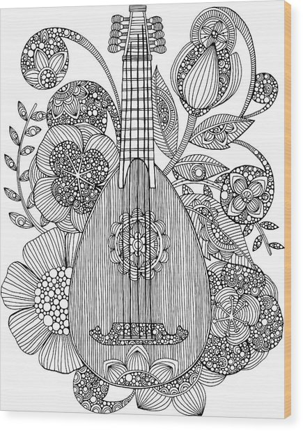 Ever Mandolin Wood Print