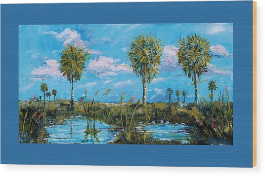 Everglades Sage Palms Wood Print