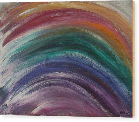 Everlasting Covenant Rainbow Wood Print