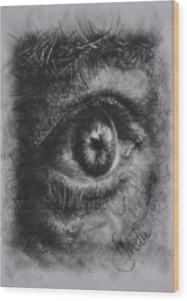 Every Eye Tells Its Own Story Wood Print