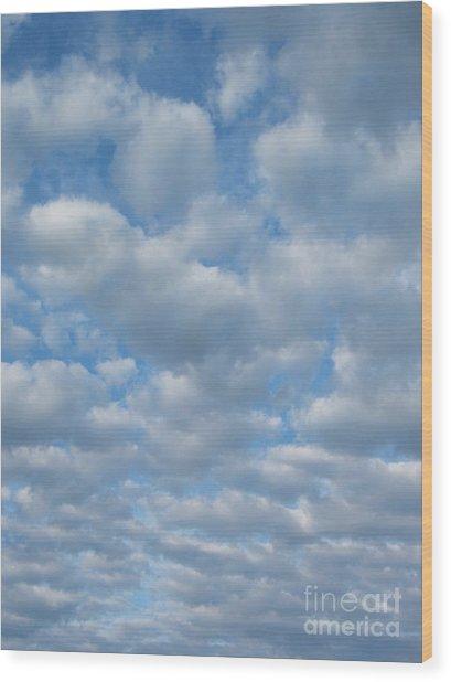 Everywhere - Clouds Wood Print by Margaret McDermott