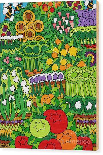 Eve's Garden Wood Print