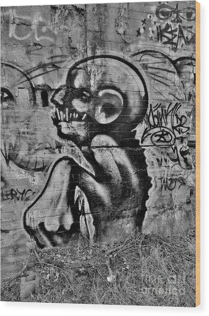 Evil Lerks  Wood Print