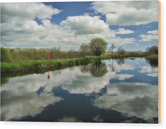 Exeter Canal Wood Print