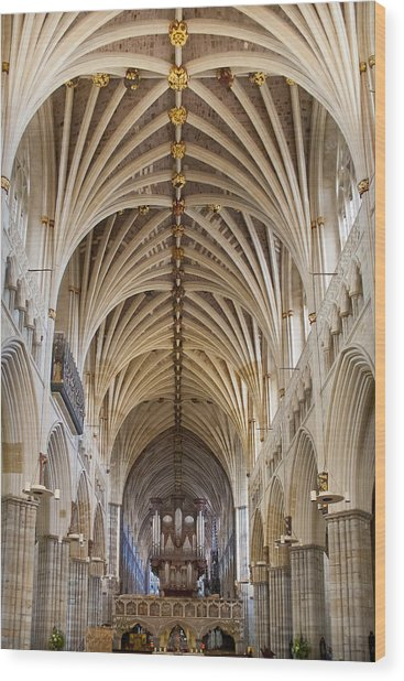 Exeter Cathedral And Organ Wood Print
