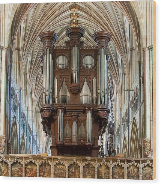 Exeter's King Of Instruments Wood Print