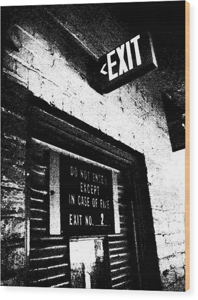 Exit Number Two Wood Print