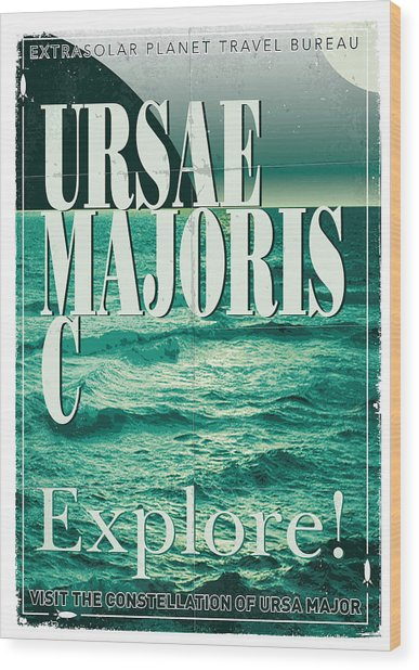 Exoplanet 03 Travel Poster Ursae Majoris Wood Print